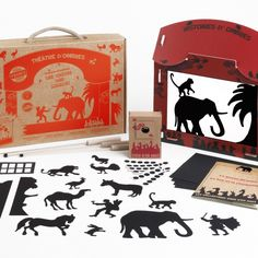 Items similar to Chinese shadow theatre suitcase - tales of animals. on Etsy Shadow Theatre, France, Original Image, Creations, Barn, Toys, Handmade, Amazon Fr, Deco