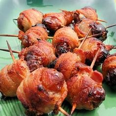 Bacon Wrapped Dates - Portuguese Roll-Ups these are literally like the best things I've ever put in my mouth!!!