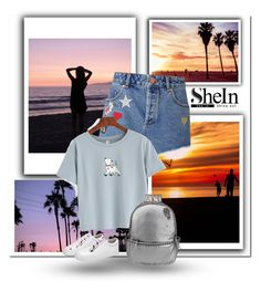 """""""Shein T-Shirt"""" by zoe-keredy ❤ liked on Polyvore featuring Miss Selfridge, Sheinside and shein"""