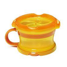 "Munchkin Click Lock Deluxe Snack Catcher - Orange/Yellow - Munchkin - Toys ""R"" Us"