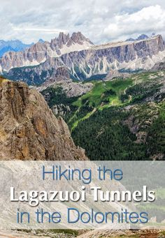 Hiking the Lagazuoi Tunnels in the Dolomites, Italy. Travel advice, how to get there, and what you need to do the hike with kids.