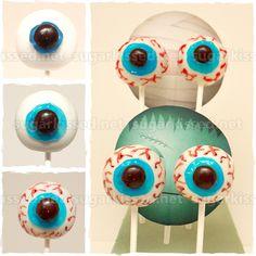 Eyeball Cake Pops for Halloween
