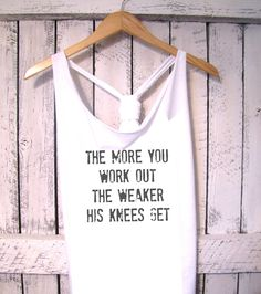 FREE SHIPPING- Work out Tank, Athletic Tank, Gym Tank, Exercise Tank, Fitness Clothes (women, teen girls). $28.50, via Etsy.