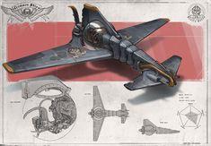 Redesign: Crimson Skies (Mosquito light fighter) by martydesign on DeviantArt