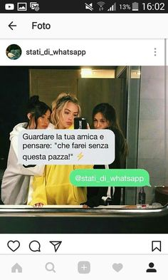 Cit: amiche Forever. Best Friends Forever, My Best Friend, Love Your Life, My Love, Foto Instagram, Tumblr Quotes, Together Forever, Feeling Happy, Sentences