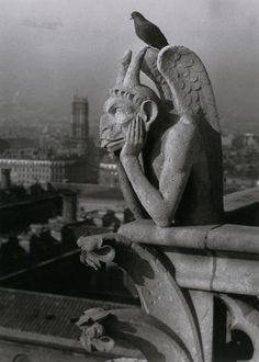 Brassaï, Notre-Dame de Paris - Diable et pigeon (Devil and Pigeion), Paris 1e, undated.