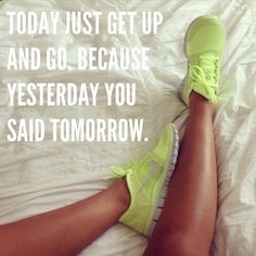 Just get up! This is the motivation I need. Every morning get up at 7:00. Throw on some running shorts and a swearshirt, then just go!
