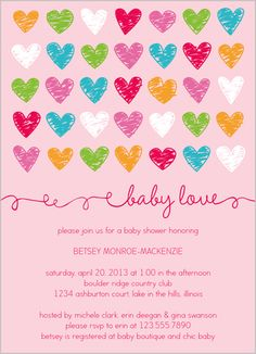 Baby Love Girl 5x7 Stationery Card by Petite Papier | Shutterfly