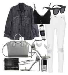 """""""Untitled #20802"""" by florencia95 ❤ liked on Polyvore featuring rag & bone, Y/Project, Givenchy, Yves Saint Laurent, T By Alexander Wang, STELLA McCARTNEY, FOSSIL, Chanel and CÉLINE"""