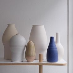 Glazed and unglazed vessels in the store.  All handmade by myself.  Any preferences? • #interiordesign #color #glaze #design #interior #kinfolk #rumid #bobdre