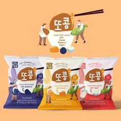 일주일만에 수많은 디자인을 받아보고, 선택할 수 있습니다. 9만명의 디자이너에게 의뢰하세요. Popcorn Packaging, Kids Packaging, Pouch Packaging, Packaging Stickers, Fruit Packaging, Food Packaging Design, Packaging Design Inspiration, Food Branding, Branding Design