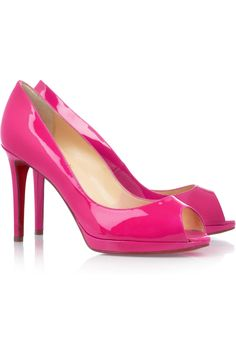 Christian Louboutin Yolanda 100 patent-leather pumps. I'm pretty sure I can hear my BF short circuiting from here $895