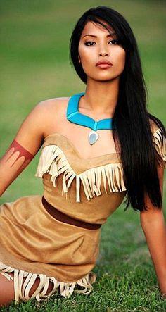 Oh my gosh... she really looks like Pocahontas! <--favorite princess. :)