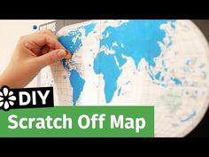 DIY Scratch Off Map | Sea Lemon - YouTube