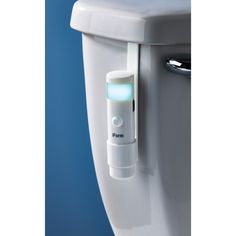 The soft glow of our Motion Sensor Tank Light is much more welcoming than an overhead light turned on during a late night trip to the bathroom!