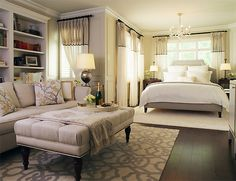 Leaside Master Bedroom - traditional - bedroom - toronto - by Laura Stein Interiors Small Master Bedroom, Master Bedroom Design, Dream Bedroom, Master Room, Master Bedrooms, Apartment Bedroom Decor, Home Bedroom, Studio Apartment, Bedroom Suites