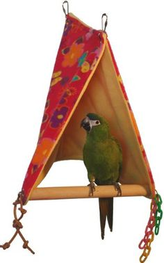 Amazon.com: Super Bird Creations Peekaboo Perch Tent, 18 by 12-Inch, Large Bird Toy: Pet Supplies