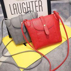 c0b818259d74 Women Leather Handbags Famous Brand Small Women Messenger Bags Female  Crossbody Shoulder Bag Mini Clutch Purse Bag Candy Color