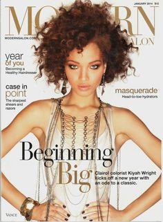 DEVAN MAYFIELD | MODERN SALON MAGAZINE JANUARY, 2014 COVER