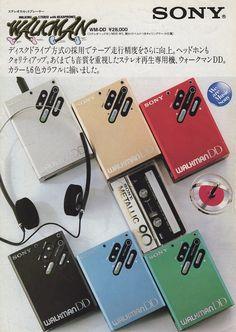 """Sony WM-DD """"Walkman DD"""" (1982) Retro Ads, Vintage Advertisements, Vintage Ads, Sony Design, Audio Design, 1980s Boombox, Radios, Sony Electronics, Hifi Audio"""