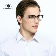 0befa711b0c EE Hot Optical Myopia Glasses Clear Lens Eyewear Acetate Glasses Frame Men  Glasses Frame Branded Half Frame Glasses-in Eyewear Frames from Men s  Clothing ...