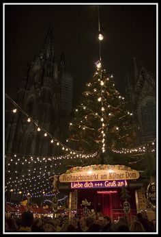 Christmas-market in Cologne, Germany