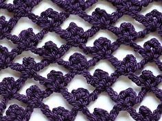 crochet stitch - picot trellis