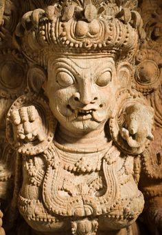 The Hindu Goddess Kali India, Kerala, circa 17th century Sculpture Jackwood with traces of paint