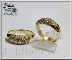 Złoty pierścionek Cyrkonie JubilerTychy
