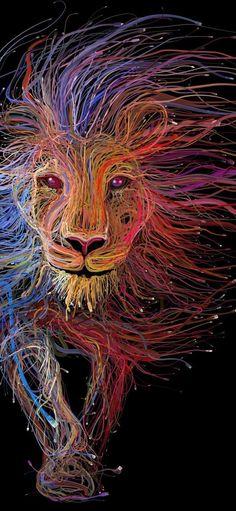 Lion Wires Art Wallpapers | hdqwalls.com