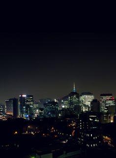 미디컴에서 바라 본 서울 밤풍경