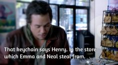 Once Upon A Time: How Baelfire and Emma Swan came up with the name of their son Henry Swan.