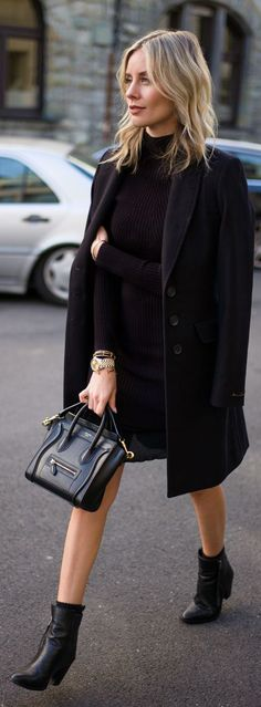 Classic Black ensemble / fall fashion essentials.