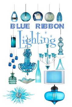 """Blue Ribbon Lighting"" by lampsplus ❤ liked on Polyvore featuring interior, interiors, interior design, home, home decor, interior decorating, Van Teal, Cyan Design, Tech Lighting and Jamie Young"