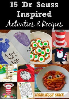 Dr Seuss Inspired Activities & Recipes - lots of fun educational activities and snack ideas using the beloved Dr Seuss book!