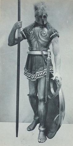 Hoplite. Print from Vinkhuijzen Collection of Military Costume Illustration.
