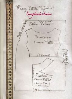 Patrones muy interesantes Doll Clothes Patterns, Clothing Patterns, Dress Patterns, Nancy Doll, Baby Sewing, Sewing Crafts, Diy And Crafts, Bullet Journal, Tiffany