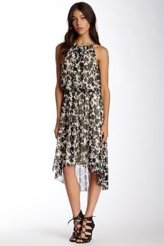 London Times Halter Blouson Hi-Lo Dress by Maggy London on @HauteLook