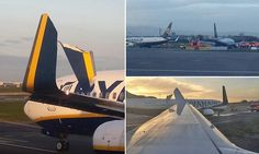 Ryanair planes clip wings while taxiing to runway at Dublin Airport