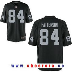 Men's Oakland Raiders #84 Cordarrelle Patterson Black Team Color Stitched NFL Nike Elite Jersey