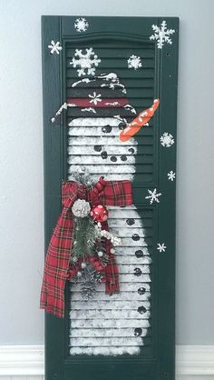 Hey, I found this really awesome Etsy listing at https://www.etsy.com/listing/210420779/shabby-chic-shutter-snowman-holiday