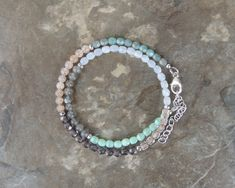 Labradorite Bracelet, Wrap Bracelet for Her, Dusty Rose Sunstone Bracelet, Double Wrap Gemstone Bracelet for Women Boho Wrap Bracelet Beaded by lelizabethjewelry on Etsy https://www.etsy.com/listing/562088921/labradorite-bracelet-wrap-bracelet-for