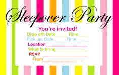 75 Best Sleepover Invitations Images Pajama Party 13th Birthday