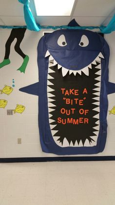 Shark summer bulletin board