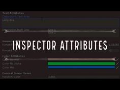 Improve your Inspector with Attributes Improve Yourself, Make It Yourself, Color Filter, I Am Game, Unity, Youtube, Youtubers, Youtube Movies