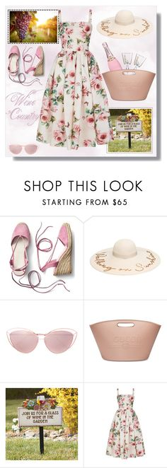 """""""Wine Country"""" by krista-zou on Polyvore featuring Gap, Linda Farrow, Gucci, Wine Enthusiast, Dolce&Gabbana and country"""