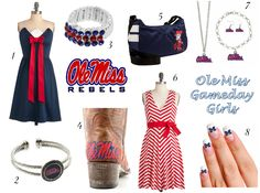 Neutral about Ole Miss but the red-and-white dress is really cute....