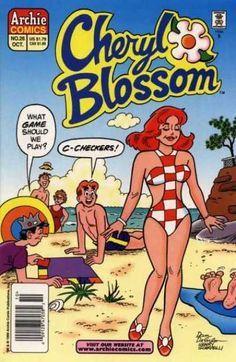 Cheryl Blossom Archie Comic Publications, Inc. Archie Comics Characters, Archie Comic Books, Comic Book Characters, Old Comics, Vintage Comics, Cheryl Blossom Archie Comics, Archie Comics Riverdale, Betty & Veronica, Creation Art