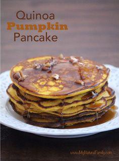 Quinoa Pumpkin Pancakes {Gluten Free Pancakes}