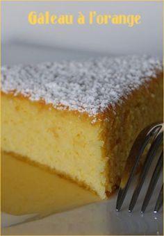 Gâteau à l'orange sans gluten et lactose
